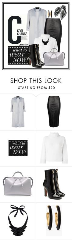 """""""nr 394 / black-white-grey"""" by kornitka ❤ liked on Polyvore featuring Cool Change, River Island, Boohoo, Forte Forte, Jil Sander, Valentino, John Lewis, Chico's and McQ by Alexander McQueen"""