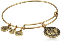 "Alex and Ani Bangle Bar ""St. Christopher"" Rafaelian Gold Finish Expandable Bracelet"