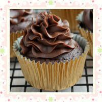 Flourless Chocolate Cupcakes with Chocolate Cream Cheese Frosting