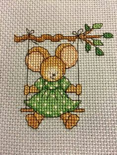 Furry Tales Garden Swing Mouse The World of Cross Stitching Issue 231 August 2015 Saved