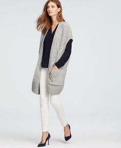 Long Sleeveless Cardigan | Ann Taylor
