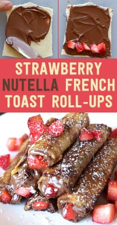 BuzzFeed Food says these strawberry Nutella French Toast roll-ups are for kids from one to ninety-two. So this is probably what you should make for brunch today, right?