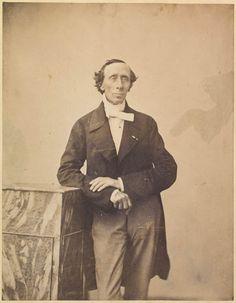 Portræt af H. C. Andersen  Ubekendt fotograf, 1854  245 x 190 mm