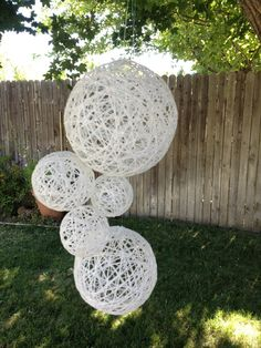 Wedding Decoration Hanging Spheres-Wedding Prop- Wedding Decor-Bohemian Chic Wedding Decoration. $55,00, via Etsy.