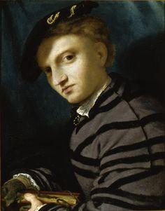 LOTTO, ritratto di giovane con petrarchino