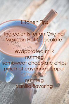 Hot Chocolate Recipe.