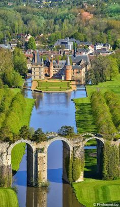 Chateau de Maintenon, Région Centre,France... By Artist Unknown...