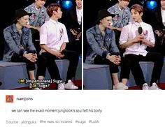 What's even more funny is that Suga actually gave Jungkook permission to impersonate him