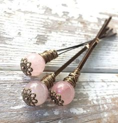 Wedding Hair Accessories Boho hair clips pink quartz bohemian bun sticks long rustic wedding bridesmaid gift under 20 holiday gift for girlfriend long hair accessory - Rustic Wedding Hairstyles, Boho Hairstyles, Hair Accessories For Women, Wedding Hair Accessories, Car Accessories, Fashion Accessories, Decorative Hair Pins, Wedding Gifts For Bridesmaids, Bridesmaid Bun