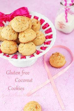 Gluten free muffin top coconut cookies recipe #breastcancerawareness | roxanashomebaking.com