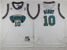 f0637d31ad8 Vancouver Grizzlies  10 Mike Bibby White Hardwood Classic Jersey