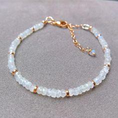 Moonstone bracelet rose gold adjustable bracelet moonstone image 6 Bead Jewellery, Beaded Jewelry, Jewelery, Handmade Jewelry, Dainty Bracelets, Gemstone Bracelets, Stacking Bracelets, Colorful Bracelets, Bracelet Gift Box
