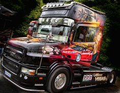 Scania show truck in France.