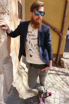 Im legeren Sakko und Print-Shirt zum Date? Gute Wahl! Shirt, Hose, Sakko, SELECTED