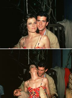 Sigourney Weaver & Mel Gibson on the set of The Year of Living Dangerously (1982)
