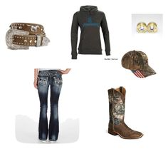 You Gotta Cowboy Up, When You Get Thrown Down(Chris LeDoux) by countrygirltingey on Polyvore featuring Miss Me, Bullet, Realtree and Nocona