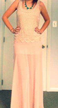 Blush on Blush with Turquoise! #summer