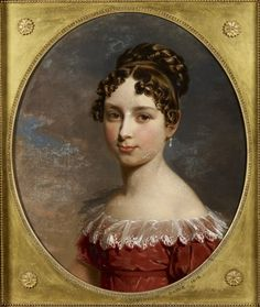'Princess Feodora of Leiningen' by George Dawe, 1818. Royal Collection Trust, inventory nr. 405015