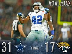 FINAL: Cowboys 31, Jaguars 17