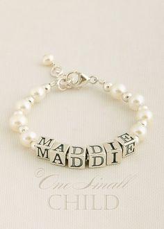 Christening Gift / Baptism Gift Name Bracelet