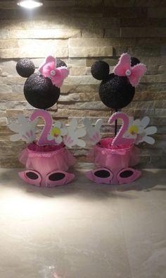 Centros de mesa de Minnie Mouse por mariscraftingparty en Etsy
