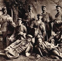 I have given my team of mail carriers a detailed brief as to how best deliver your grooming requisites during 2014. They are suitably waxed and ready for action. Please excuse Humphrey, with the naked upper lip - he has been suitably reprimanded.   Photograph: Mail Carriers in Sandusky, Ohio circa 1896