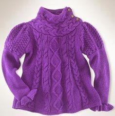 ВЯЗАНИЕ | УЗОРЫ | СХЕМЫ: Пуловер для маленькой леди спицами