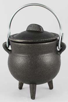 "Plain Cast Iron Cauldron 3"""