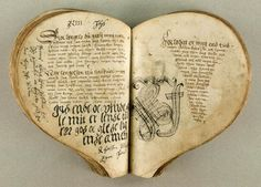 Danish ballad manuscript from the 1550′s, and I thought all the journal art was a new thing!  ha!