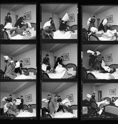 1964 - Beatles pillow fight... ;)