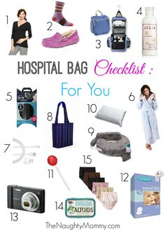 The 15 items that every mom-to-be needs in her hospital bag. I surveyed a group of moms to find out what were the essentials for their hospital bags and what they THOUGHT they needed but didn't. Includes a printable checklist for you to use!
