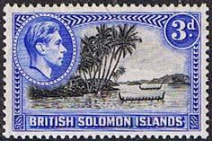 Solomon Island 1939 SG 65 Roviana Canoes Fine Mint SG 65 Scott 72 Other British Commonwealth Stamps here