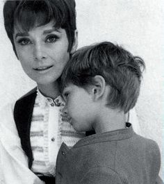 Audrey Hepburn with her son Sean, 1965.
