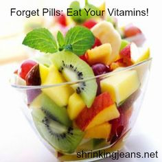 Forget Pills: Eat Your Vitamins! #healthy #recipes #weightloss
