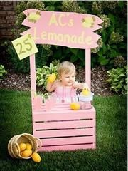 lemonade stand for kids, fun summer ideas for kids, children boutique clothing, baby girl clothing boutique