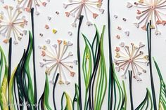 This quilled paper artwork named LOVE DANDELIONS is handmade from colourful strips of paper. The Paper Quilling Art is my favorite passion and I create my designs with a lot of love and patience. All products start with a hand drawn sketch, which then is used to create the paper