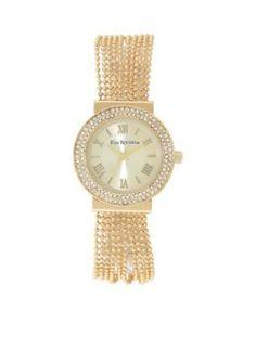 Kim Rogers  Gold-Tone Multi Chain Bracelet Watch