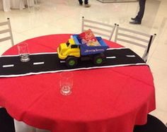 centro de mesa carros/automóveis