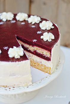 Blackberry coconut cake - directions are in German