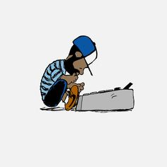 J. Dilla illustration by Flwrpt. Love love love the shout to Schroeder from Charlie Brown