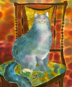 Silver Cat ~ Yelena Sidorova