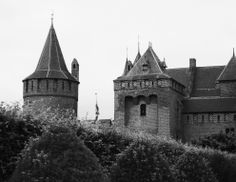 on the side of the castle