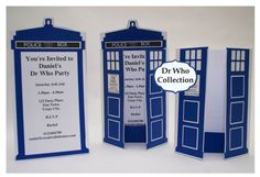 Dr Who Party Invitation by CreativeLittleStars on Etsy