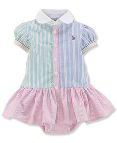 Polo Ralph Lauren Baby Girls' Oxford Dress - Kids Newborn Shop - Macy's
