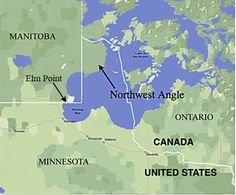 The Northwest Angle, known simply as the Angle by locals, and coextensive with Angle Township, is a part of northern Lake of the Woods County, Minnesota, and is the only place in the United States outside Alaska that is north of the 49th parallel.