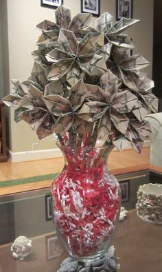 Last minute teacher gift - a money bouquet