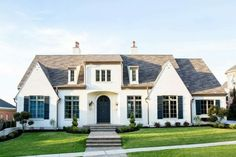 featured posts image for Decadent home in Utah blends French farmhouse with transitional style Design Exterior, Exterior Paint Colors, Paint Colors For Home, House Colors, Brick Design, Cafe Exterior, Exterior Homes, Facade Design, Modern Farmhouse Exterior
