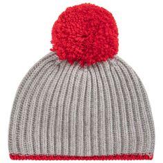 01e0b706090 Grey Wool Pom-Pom Hat