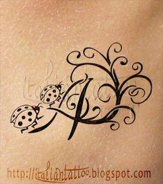 Italian Tattoo: A: alfabeto coccinelle