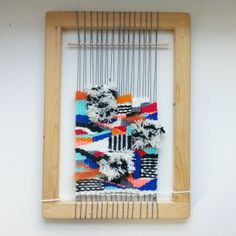 An inch or two from being cut off the loom!  - you can make looms from anything !!!